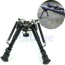 """Adjustable Legs 6"""" to 9"""" Height  Sniper Hunting Rifle Bipod Sling Swivel Mount"""