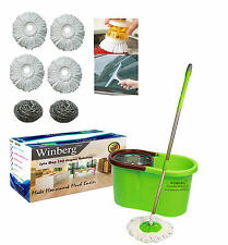 Winberg (TM) Magic Mop stainless steel dryer 360° Rotating Pole Clng Combo Pack2