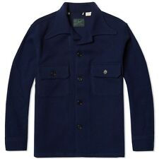 New Levi's Mens Vintage Clothing 94506-0001 Navy Blue All Wool Shirt Jacket  M