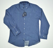 GANT The Perfect Indigo Mens Shirt Denim Look Button Down Sz XL New With Tags