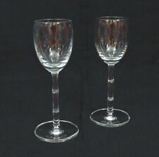 "2 Schott Zwiesel Bamboo Crystal Cordial Glasses 5 1/2"" Etch Marked"