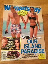 KATE MIDDLETON -  AUSSIE WOMAN'S DAY - WILLS & KATE  OUR  ISLAND  PARADISE RATE