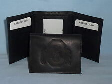 OHIO STATE BUCKEYES    Leather TriFold Wallet    NEW    black 3