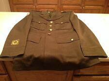 Vintage Military Army Uniform WWII WW2 Jacket Coat Hopkins Tailoring Co Patches
