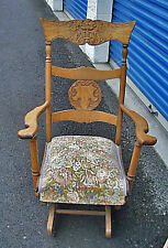 Cutest Best Antique Oak Lady's North Wind Platform Rocker Excellent Condition