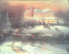 Victorian Christmas II by Thomas Kinkade 11x14  Matted Print with COA