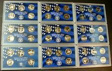 """1999-S    2008-S """"SHIP FREE"""" COMPLETE 50 COIN DEEP CAMEO PROOF STATE QUARTER SET"""