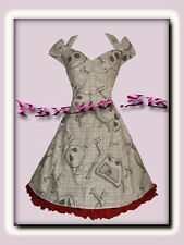 Nightmare Before Christmas, 50s Rockabilly/Psychobilly Gothic Halloween Dress.