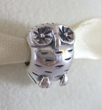 Authentic Genuine Pandora Sterling Silver Owl Charm 790278