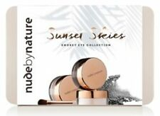 BNIB NUDE BY NATURE SUNSET SKIES SMOKEY EYE GRAPHITE STONE ICE BRUSH GIFT TIN