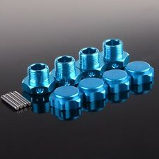 80121 Blue 4PCS RC 1:8 Car Aluminum 17mm Rim Wheel Hex Mount Hub Nuts Cover Pin