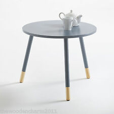 BNIB, La Redoute, Janik, Grey & Natural Coffee ~Side ~Occasional ~Bedside Table