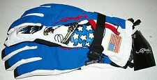 Ed Hardy Snow Gloves Ski Board Boogie Sled winter United States US. Flag Xmas XL