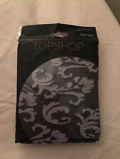 TOPSHOP Navy Jacquard Fashion Tights BNIP - One Size
