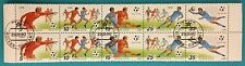 Russia ( USSR ) 1990 CTO  Blocks of 10 MNHOG stamps football ITALY-90