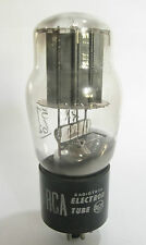 Solid Black Plates 1946 RCA 5V4G rectifier tube - TV7D tested @ 57/62, min:40/40