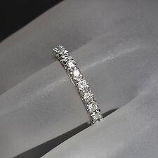 Memoirering Ring mit ca. 1,00ct Brillant W-vsi in 585/14K Weißgold Gr. 55
