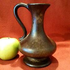 Edle Vase Stein-Keramik Form 80-15, Westerwald, WGP,  changierende Bronzetönen