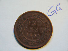 #5, 1859 Canada, Canadian Large Cent Coin , Canadian One Cent