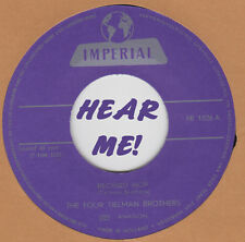 ROCKABILLY REPRO: FOUR TIELMAN BROTHERS-Record Hop/Swing It Up IMPERIAL - WILD!