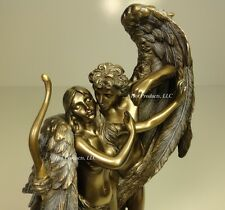 CUPID & PSYCHE Nude Male & Female Lovers Statue Bronze Finish
