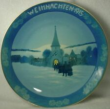 ROSENTHAL china CHRISTMAS PLATE Weihnachten 1915 WALKING TO THE CHURCH