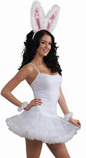 Womens White Slip Dress With Attached Crinoline NEW one size fits most Costume