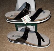 Mephisto SAFO Women's Thong Sandals Black Patent Leather Size US 13