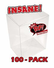 "100-PACK FUNKO POP! BOX PROTECTOR BOXES for 4"" VINYL FIGURES CRYSTAL CLEAR CASES"