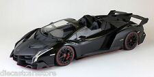 Kyosho 1/18 Scale Lamborghini Veneno Black W/ Rd Body Stripes Car Model C09502B