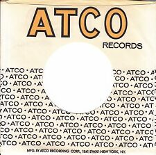 Company Sleeve 45 Atco - White W/ Black & Yellow Writing W/ Address