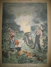 VINCENNES CONCOURS HIPPIQUE BEAUJOLAIS CANON A GRELE LE PETIT PARISIEN 1900