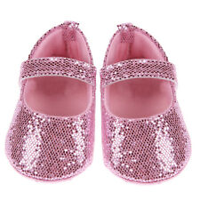 Newborn Baby Girl Pink Shoes Bling Crib Shoes Prewalker Cute Soft Sole Size 11