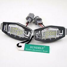 2Pcs 18-SMD LED Number-Plate Light For Honda Pilot 2003 2004 2005 2006 2007 2008