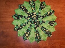 Handmade Quilted St. Patrick's Day Table Topper, Candle Mat, Placemat, 15""