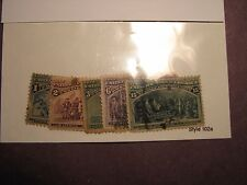 US Stamp Scott# 230,231,233,235,238 Columbian Exposition 1893  L34