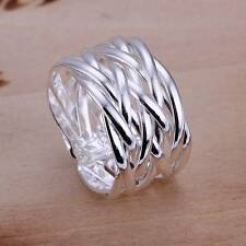 Women's 925 Solid Silver Ring Fashion Jewelry Christmas Gift Size 8