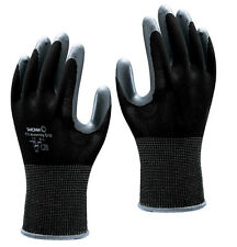 SHOWA 370 Assembly Grip Nitrile Palm BLACK Gloves 8/L  -  10  Pairs