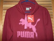*NWT* PUMA Pullover Sweatshirt Burgundy Brownish Red Women's Large Men Medium