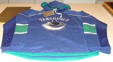 NHL Hockey Reebok Edge Team Jersey Hoodie Hoody Sweatshirt Vancouver Canucks L