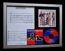ROLLING STONES Brown Sugar GALLERY QUALITY CD FRAMED DISPLAY+EXPRESS GLOBAL SHIP