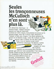 PUBLICITE ADVERTISING 115  1966  MC CULLOCH  tronçonneuse