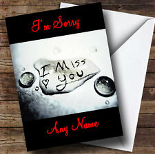 I Miss You Personalised I'M Sorry Greetings Card