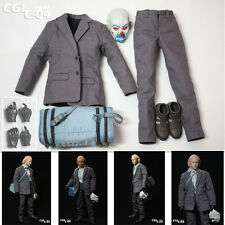1/6 figure CGL C-04 bank robber joker suit 2.0 latest contains Black Glove+mask