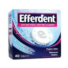 Efferdent Anti - Bacterial Denture Cleanser Tablets - 40 ea (3 Pack)