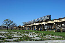 """Original Photograph: Chicago CTA 5131 on Green Line """"L"""" at State/38th St (5 x 7)"""