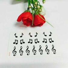 Music Notes Tatoo Stickers Temporary Ear Tattoos Body Art Waterproof