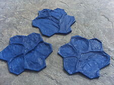 3 Single Stone Faux Vertical Wall Concrete Cement Plaster Stucko Stamps Mats New