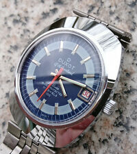 Vintage 1970´s NOS Duxot De Luxe Swiss Made Watch 17 Juwels Blue Dial