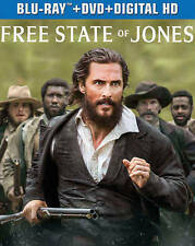 The Free State of Jones (Blu-ray/DVD/Digital HD) NEW w/ slipcover